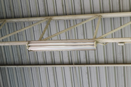 economize: Fluorescent lights of power-saving measures Stock Photo