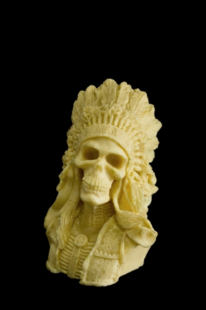 iroquois:  indian skull