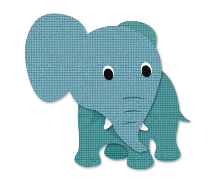 Elephant made out of paper Stock Photo - 15486485