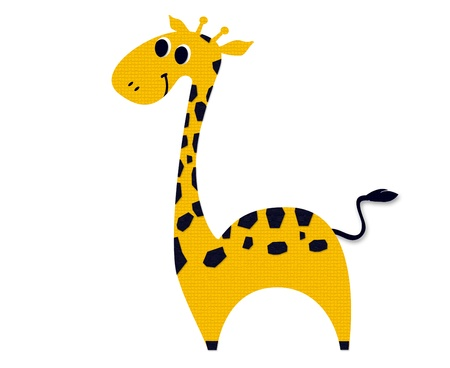 Giraffe made out of paper Stock Photo - 15486478