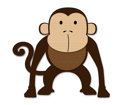Monkey made of paper Stock Photo - 15486484