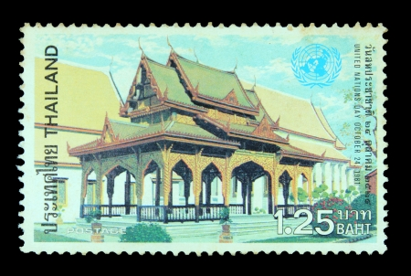 a stamp printed by Thailand, shows The temple in Thailand, circa 1983 photo