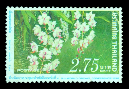 THAILAND - CIRCA 1978  A stamp printed in Thailand shows 9th World Orchid Conference, circa 1978