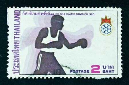 THAILAND - CIRCA 1985  A stamp printed in Thailand shows image of XIII Sea Games Bangkok, circa 1985