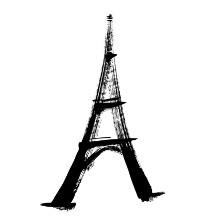 coeur: eiffel tower, illustration