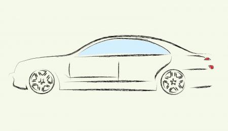 utility: Outlines of cars ,vector