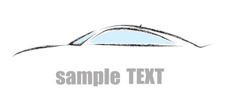 silueta moto: Los contornos de los autom�viles, vector Vectores