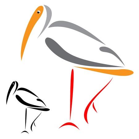 A illustration of a flamingo Vector