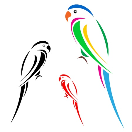 parrot: Papegaai Stock Illustratie