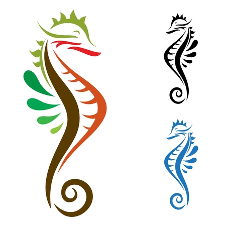 Sea Horse ,illustration image Vector