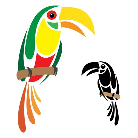 big eyes: Hornbill Illustration
