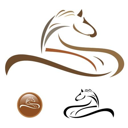 imagenes vectoriales: Im�genes del vector de la mascota del logotipo del caballo