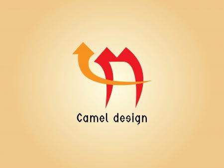 sand asia: Images design of camel logo - Illustrations