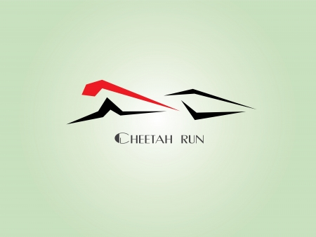 Images design cheetah run logo - Illustrations Vector