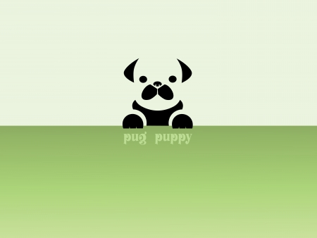 Images design pug puppy - Illustrations Vector