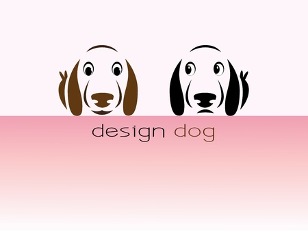 Images design dog - Illustrations Vector