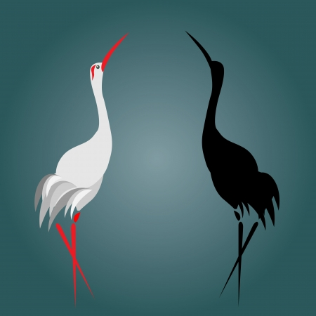 A illustration of a flamingo Vector