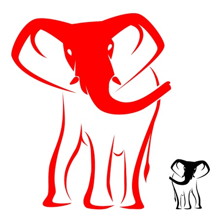 Vector image of an elephant on a white background Stock Vector - 16517128