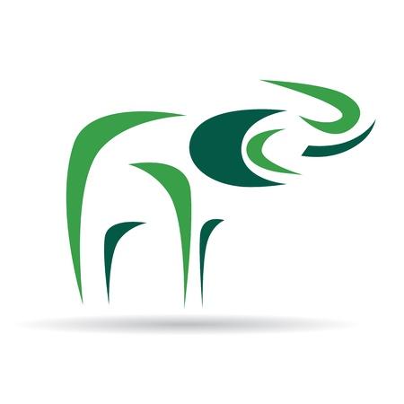 Logo design - Vector image of an elephant
