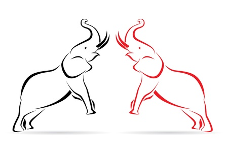 Vector image of an elephant on a white background Vector