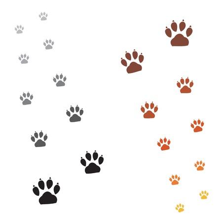 patas de perros: Ilustración de los animales patas imprimir sobre un fondo blanco Vectores