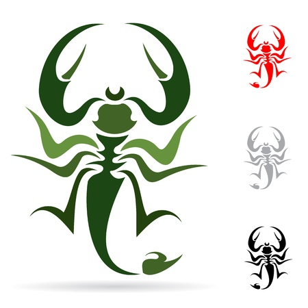 Tattoo in the form of the stylized scorpion Stock Vector - 16609093