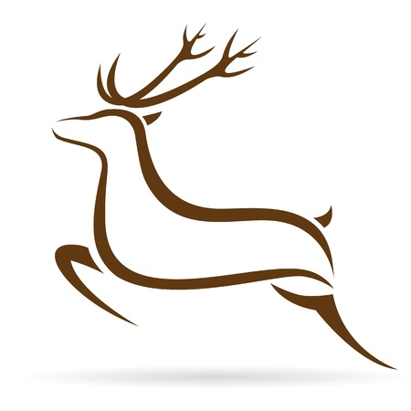 Vector illustration of deer symbol - tattoo Vector