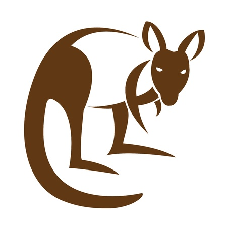Vector image of an kangaroo on a white background Stock Vector - 17454735