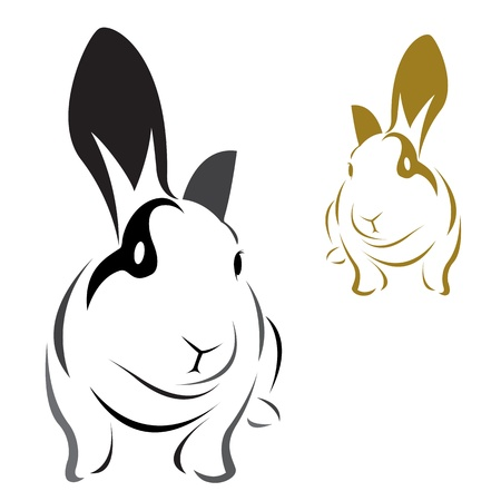 Vector Bild eines Kaninchens auf weißem Hintergrund