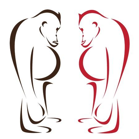 Vector image of an orangutan on a white background Stock Vector - 17549578