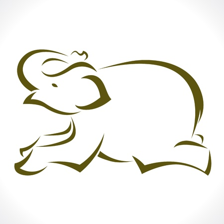an elephant on a white background Vector