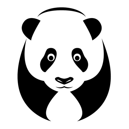 an panda on white background  Vector
