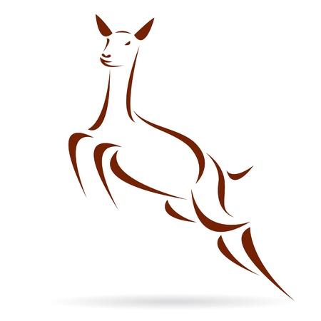 deer symbol - tattoo Stock Vector - 17682012