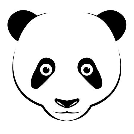 panda on white background  Vector