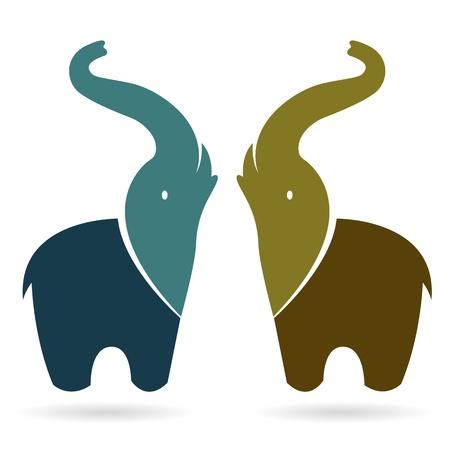 elefante: imagen de un elefante sobre un fondo blanco