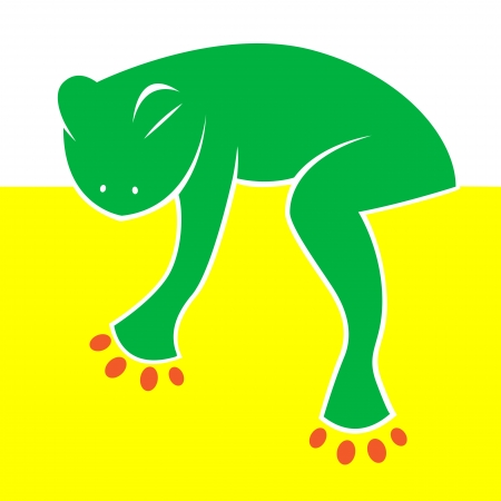 Vector image of the frog sleeping comfortably Vector