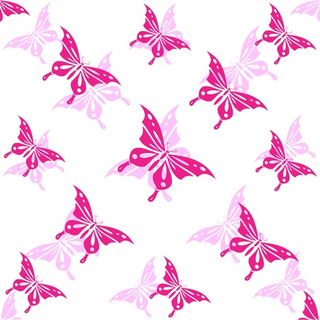 stylistic: Seamless wallpaper butterfly.  Illustration