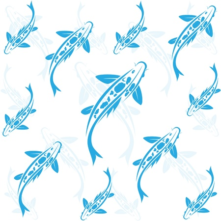 Seamless wallpaper carp koi. Stock Vector - 18125736