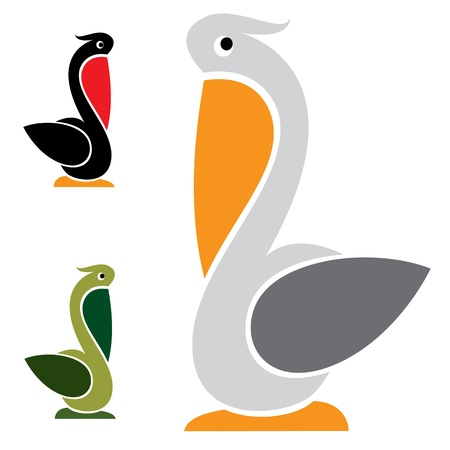 image of an stork on white background  Vector