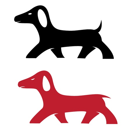 image of an dog on white background  Vector