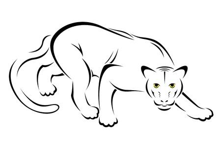 illustration of panther symbol - tattoo