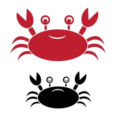 image of an crab on white background Vector