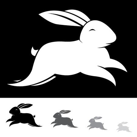 lapin silhouette: Image de vecteur d'un lapin sur fond blanc Illustration