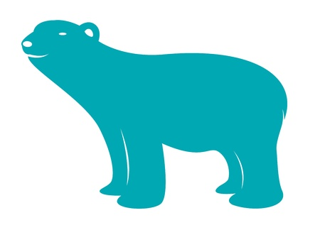 Vector image of an bear on white background  Vector