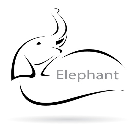 image of an elephant on a white background Stock Vector - 18942824