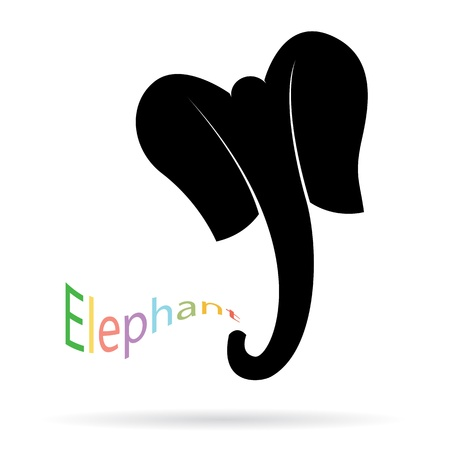 Bild eines Elefanten auf weißem Hintergrund