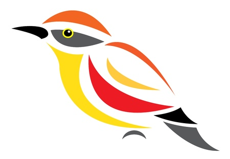 image of an bird on white background  Vector