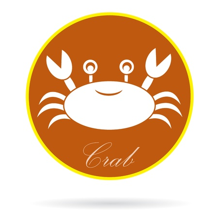 testa: image of an crab , illustration