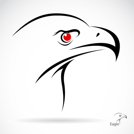 eagle tattoo: Head of an eagle in the form of the stylized tattoo