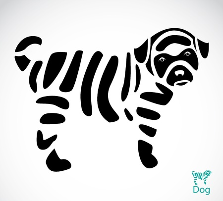 Vector image of an dog on white background  Stock Vector - 19284105